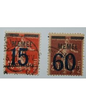 Klaipėda/Memel. Mi 34-35, ʘ