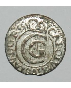 Švedija/Livonija. Karolis X Gustavas. Šilingas (solidas), 1654 m. UNC