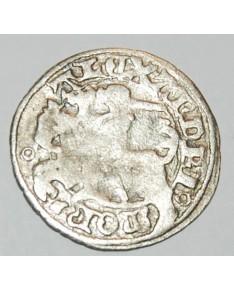 LDK. Aleksandras Jogailaitis. Pusgrašis. Gotika. Moneta iš lobio, nevalyta.