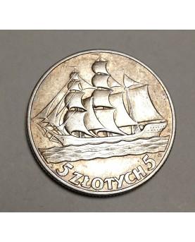 Lenkija. 5 zlotych, 1936 m....