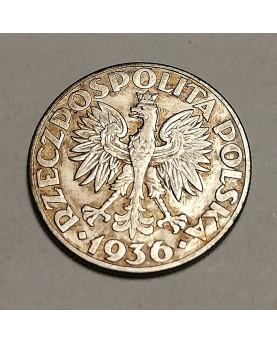 Lenkija. 2 zlote, 1936 m....