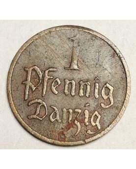 Dancigas/Danzig. 1 Pfennig, 1926