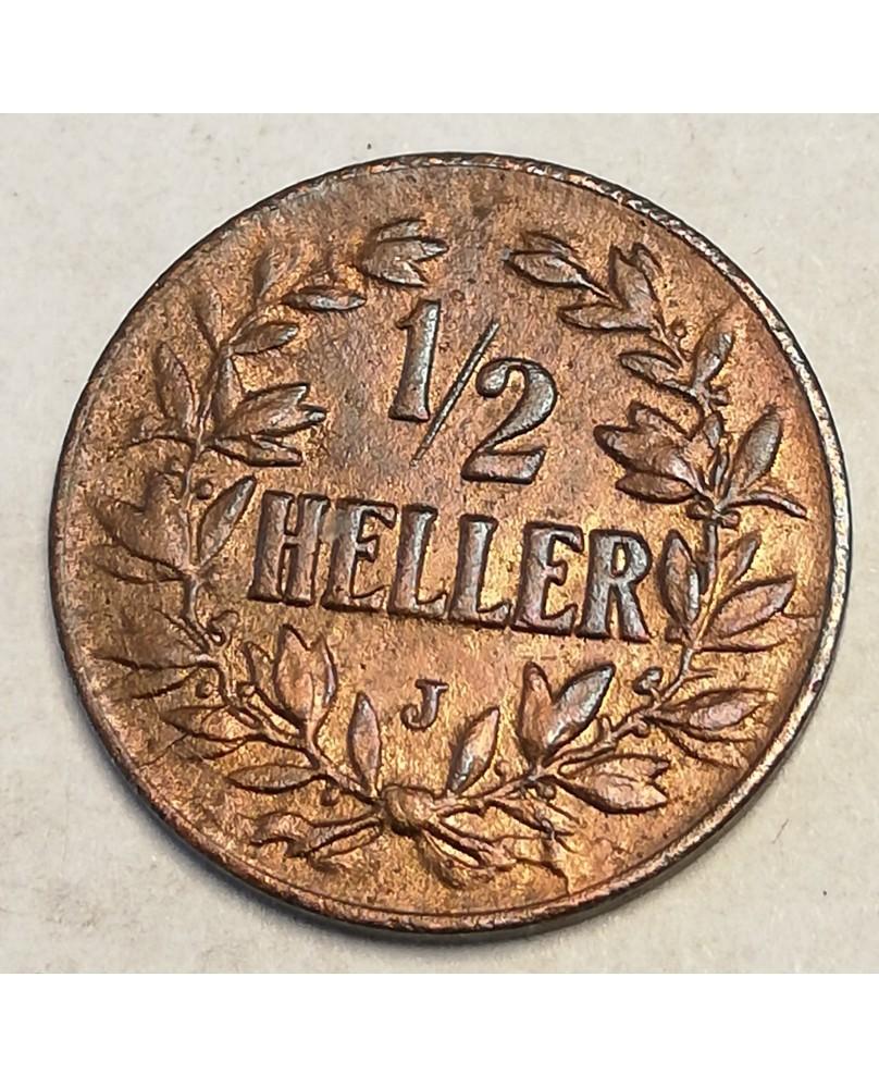 German East Africa. Wilhelm II. ½ Heller, 1905 J, UNC (Vokiškoji Rytų Afrika)