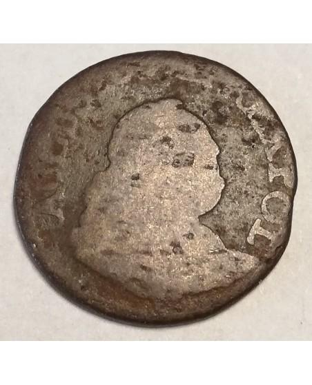 LDK. Augustas III Saksas. 1 Grašis, 1755 m. H