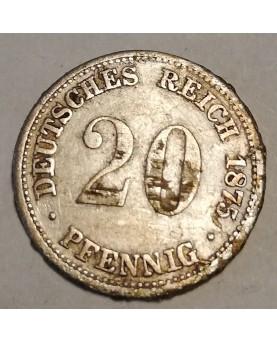 Vokietija. 20 Pfennig, 1875 J