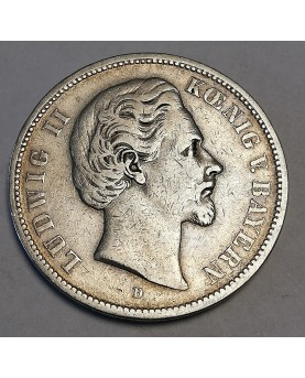Vokietija. 5 Mark, 1874 m....