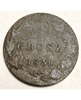 Lenkija. 5 groszy, 1839 m.