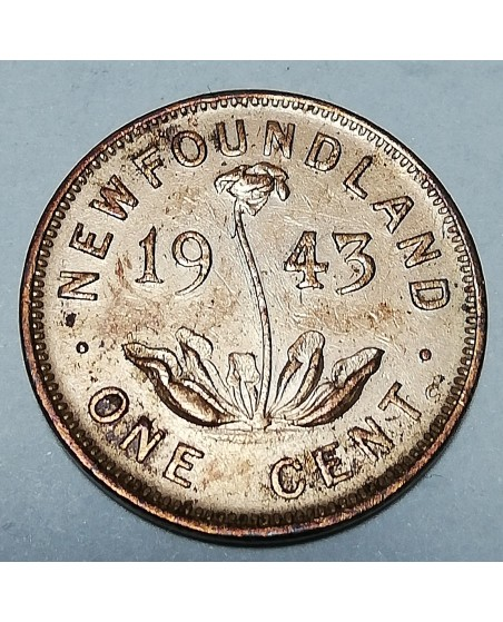 Kanada/Canada. 1 cent, 1943, UNC. NEW FOUNDLAND