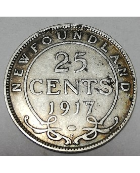 Kanada/Canada. 25 cents, 1917. NEW FOUNDLAND