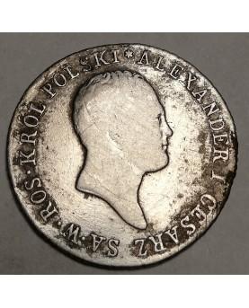 Lenkija. 1 zloty, 1819 m.