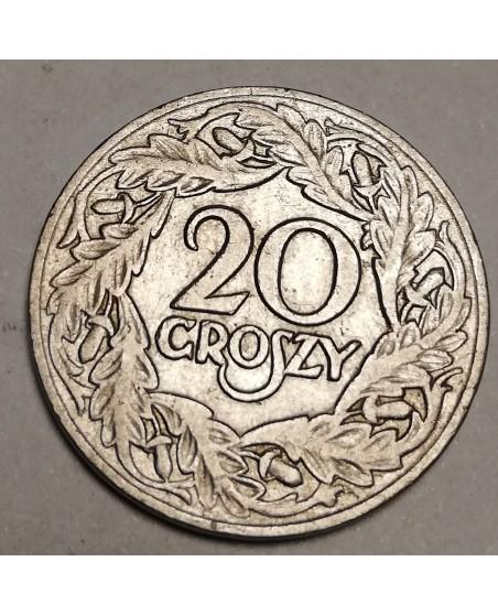 Lenkija. 20 groszy, 1923 m.