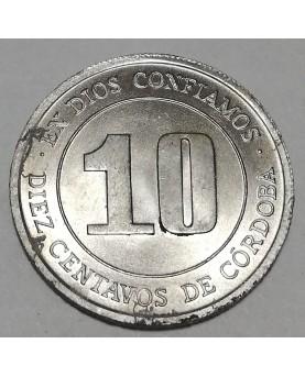 Nikaragva/Nicaragua.10 Centavos, 1974 m., FAO. UNC