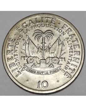 Haitis/Haiti. 10 Centimes, 1975 m.. FAO. UNC