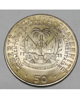 Haitis/Haiti. 50 Centimes, 1972 m. FAO. UNC