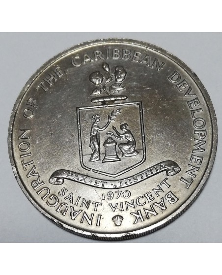 Barbadosas/Barbados. 4 dollars, 1970 m. FAO. UNC