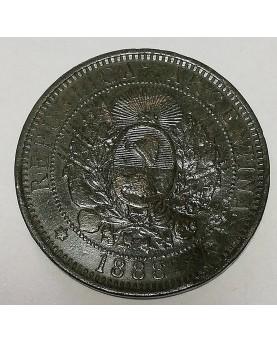 Argentina. 2 centavos, 1888 m.