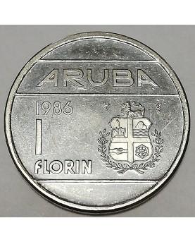 Aruba. 1 Florin, 1986 m.