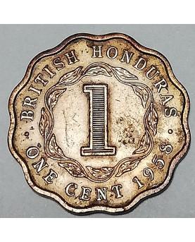 British Honduras/Britų Hondūras. 1 cent, 1958 m., UNC