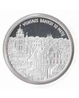 """Medalis """"Vilniaus bankui 10..."""