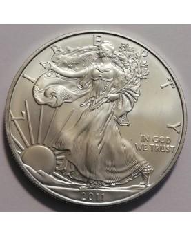 JAV/United States. 1 dollar, 2011 m., UNCIJA GRYNO SIDABRO