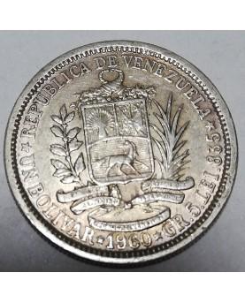 Venesuela/Venezuela. 1 Bolivar, 1960 m.