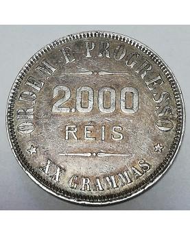 Brazilija/Brasil. 2000 Reis, 1907 m.