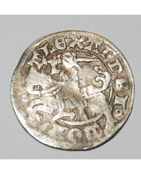 LDK. Aleksandras Jogailaitis. Pusgrašis. Gotika. Moneta iš lobio, nevalyta. (c1721)