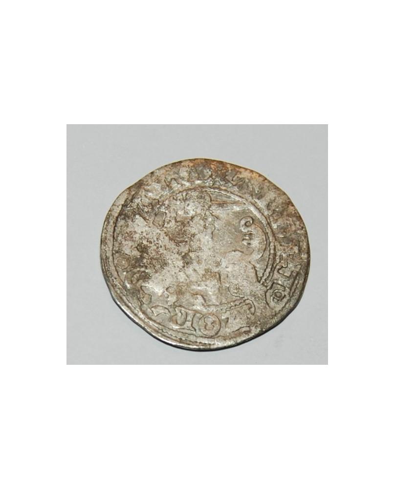 LDK. Aleksandras Jogailaitis. Pusgrašis. Gotika. Moneta iš lobio, nevalyta. (c1732)