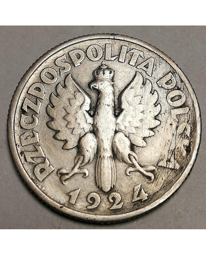 Lenkija. 2 zlotai, 1924 m., Filadelfija