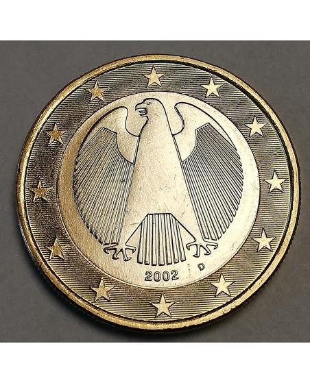 Vokietija. 1 euro, 2002 m. D, PROOF