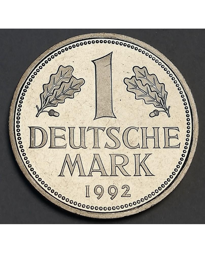 Vokietija. 1 DM, 1992 m. D, PROOF