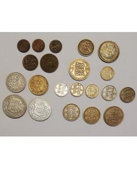 Estija/Eesti/Estonia. 1922-1939 m. monetų rinkinys, 21 vnt. Kokybė aUNC-XF