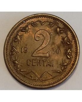 Lietuva. 2 centai, 1936 m.
