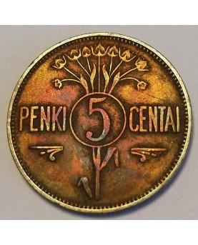 Lietuva. 5 centai, 1925 m.