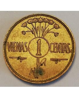 Lietuva. 1 centas, 1925 m.