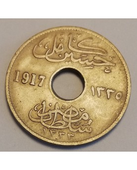 Egiptas/Egypt. 5 milliemes, 1917 m.