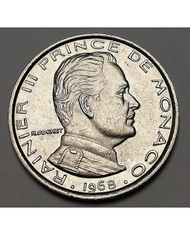 Monakas/Monaco. 1 Franc, 1968