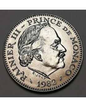 Monakas/Monaco. 5 Francs, 1982