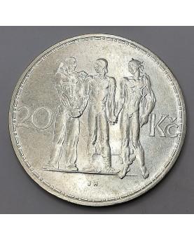 Čekoslovakija. 20 Korún, 1934