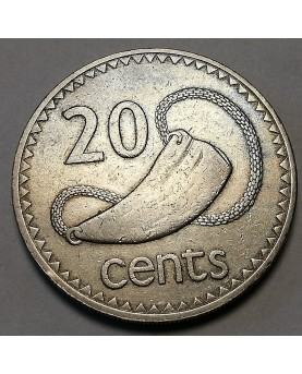 Fidžis/Fiji. 20 Cents, 1969