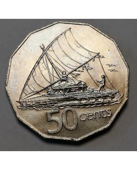 Fidžis/Fiji. 50 Cents, 1982