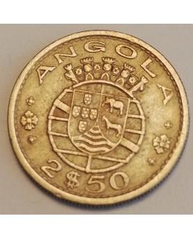 Angola. 2,50 Escudos, 1969 m.
