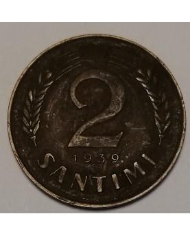 Latvija. 2 santimi, 1939 m.