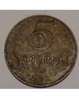 Latvija. 5 santimi, 1922 m.