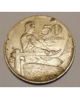 Latvija. 50 santimu, 1922 m.