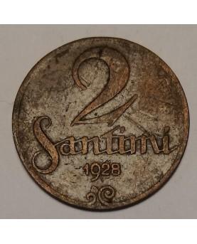 Latvija. 2 santimi, 1928 m.