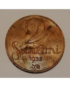 Latvija. 2 santimi, 1932 m.