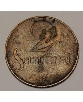 Latvija. 2 santimi, 1922 m.