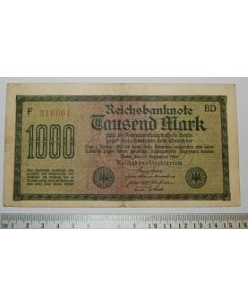 Vokietija. 1000 markių,...
