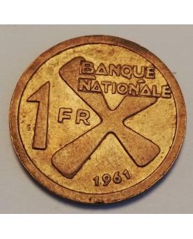 Katanga. 1 Franc, 1961 m.